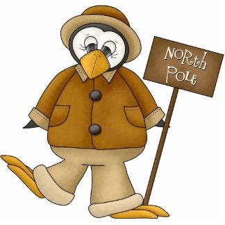 North Pole Penguin Ornament Photo Sculpture