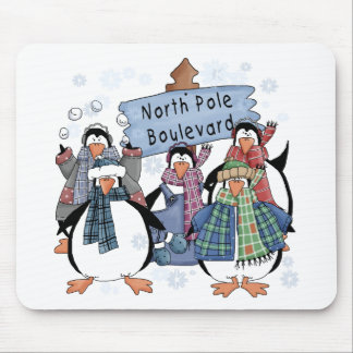 North Pole Penguins Tshirts and gifts Mousepad