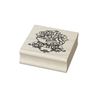 North Pole Post Office Christmas Rubber Stamp