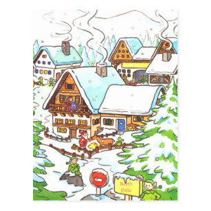 North Pole Christmas Postcard by retro-pixel on DeviantArt |North Pole Postcards