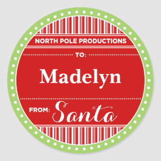 North Pole Productions Christmas Classic Round Sticker