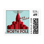 North Pole - Red & Light Blue Stamps