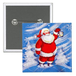 North Pole Santa Button