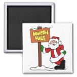 North pole Santa Claus Fridge Magnets