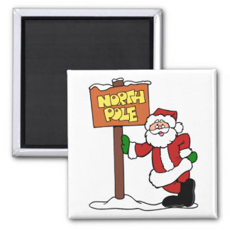 North pole Santa Claus Magnet