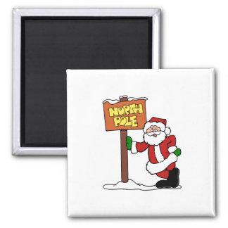 North Pole Santa Refrigerator Magnet