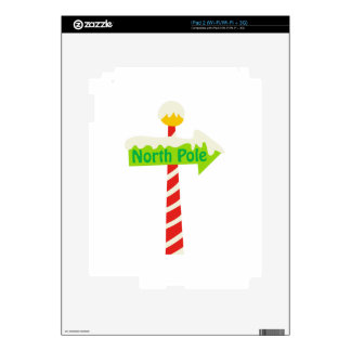 North Pole Sign Skin For iPad 2
