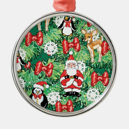 North Pole Themed Mini Ornaments on Christmas Tree