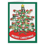 North Pole Themed Mini Ornaments on Christmas Tree Greeting Cards