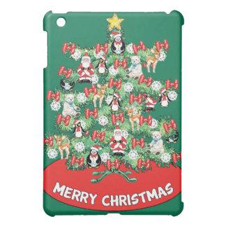 North Pole Themed Mini Ornaments on Christmas Tree iPad Mini Case
