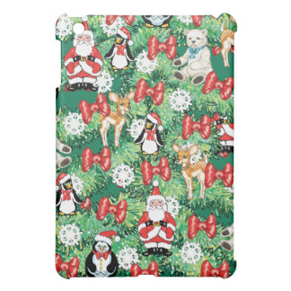 North Pole Themed Mini Ornaments on Christmas Tree iPad Mini Cases