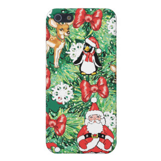 North Pole Themed Mini Ornaments on Christmas Tree iPhone 5/5S Case