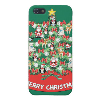 North Pole Themed Mini Ornaments on Christmas Tree iPhone 5 Case