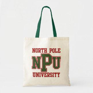 North Pole University Canvas Bags