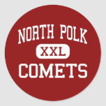 North Polk - Comets - High School - Alleman Iowa Round Sticker