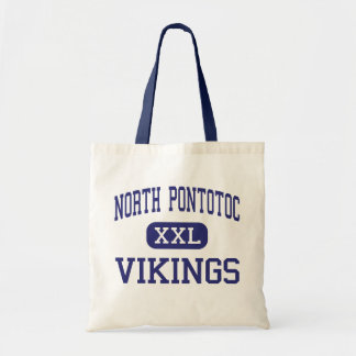 North Pontotoc Vikings Middle Ecru Tote Bags