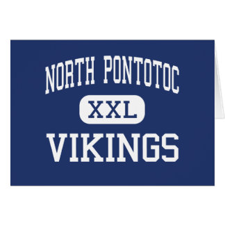 North Pontotoc Vikings Middle Ecru Greeting Cards