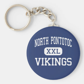North Pontotoc Vikings Middle Ecru Keychain