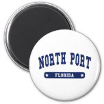 North Port Florida College Style tee shirts 2 Inch Round Magnet