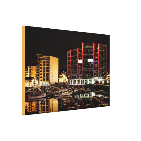 North Quay by Night, Barbican - wrapped canvas