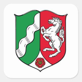 North Rhine Westphalia (Germany) Coat of Arms Square Sticker