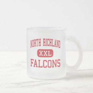 North Richland - Falcons - North Richland Hills 10 Oz Frosted Glass Coffee Mug