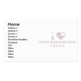 North Richland Hills, Texas Business Card Template
