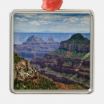 North Rim Gran Canyon - Grand Canyon National Square Metal Christmas Ornament