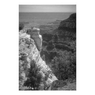 North Rim of the Grand Canyon #1 in Black and Whit Photo