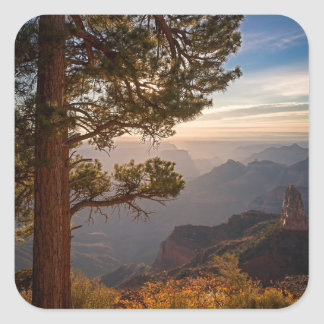North Rim Sunrise Square Sticker