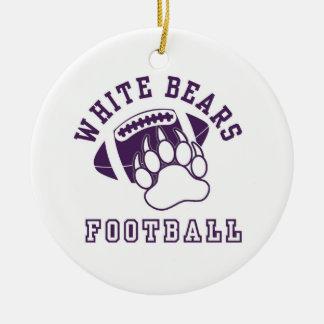North Royalton White Bears Ceramic Ornament
