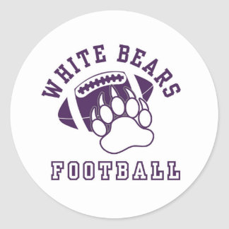 North Royalton White Bears Classic Round Sticker
