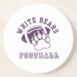 North Royalton White Bears Sandstone Coaster