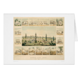 North San Juan, CA. Panoramic Map 1858 (1567A) Card