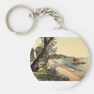 North sands, Tenby, Wales rare Photochrom Keychain