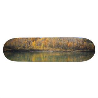 North Saskatchewan River in the fall Skateboard Deck