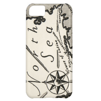 North Sea Map Graphic Bold Compass Case For iPhone 5C