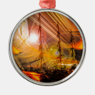 North Sea romance Metal Ornament