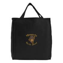 North Shore Bear Print Embroidered Tote