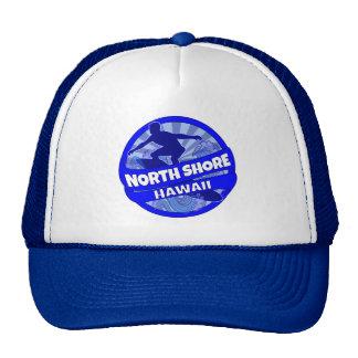 North Shore Hawaii blue surfer logo hat