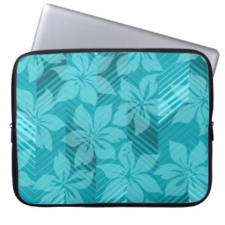 North Shore Hawaiian Hibiscus Neoprene Wetsuit Laptop Sleeve