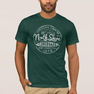 KrookedEyeDesigns North Shore Longboard Vintage Surf T-shirt