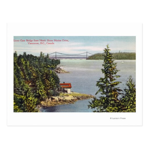 North Shore Marine Drive View of Lions Gate Postcard