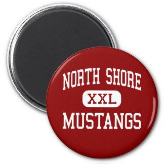 North Shore - Mustangs - High - Galena Park Texas Fridge Magnet