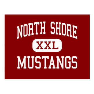 North Shore - Mustangs - High - Houston Texas Postcard