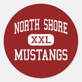 North Shore - Mustangs - High - Houston Texas Round Sticker