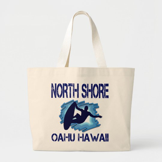 NORTH SHORE, OAHU, HAWAII LARGE TOTE BAG