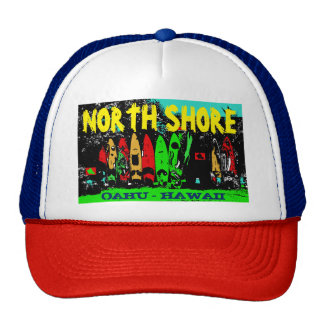 NORTH SHORE OAHU HAWAII TRUCKER HAT