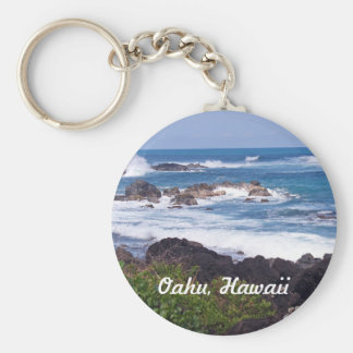 North Shore on the island of Oahu in Hawaii Basic Round Button Keychain