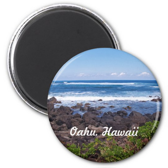 North Shore on the island of Oahu in Hawaii Magnet